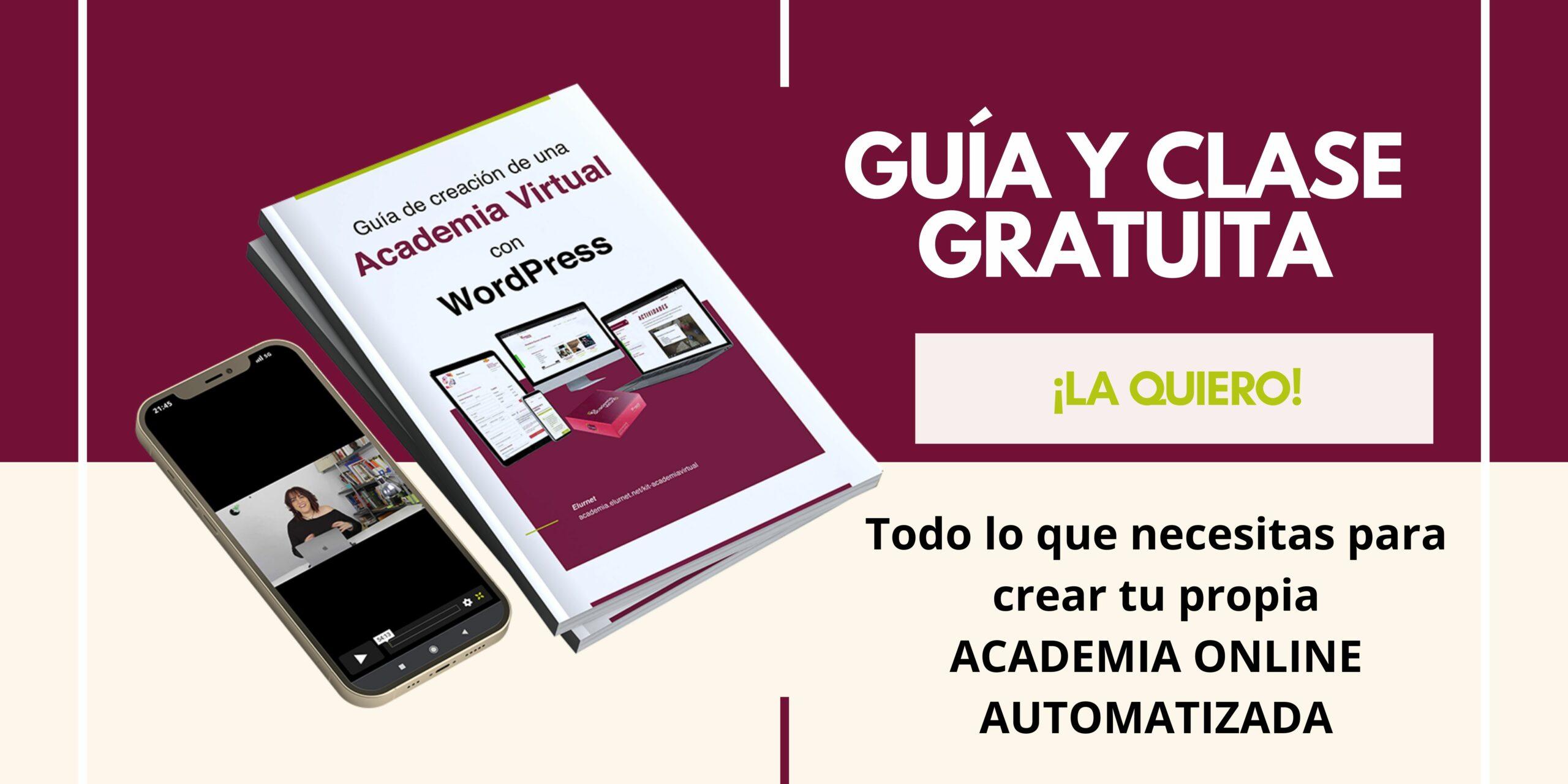 Guía gratuita para la creación de una academia online con WordPress
