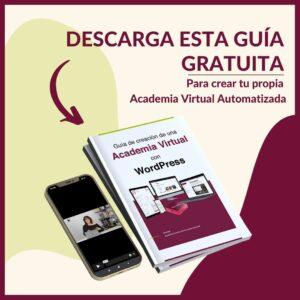 Guía gratuita academia virtual con WordPress
