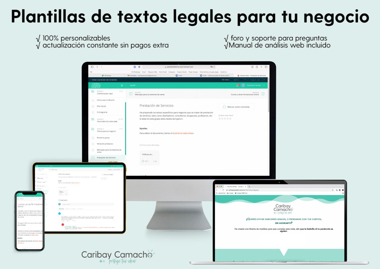 Plantillas de textos legales para tu web